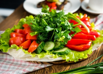 Тарелка овощная